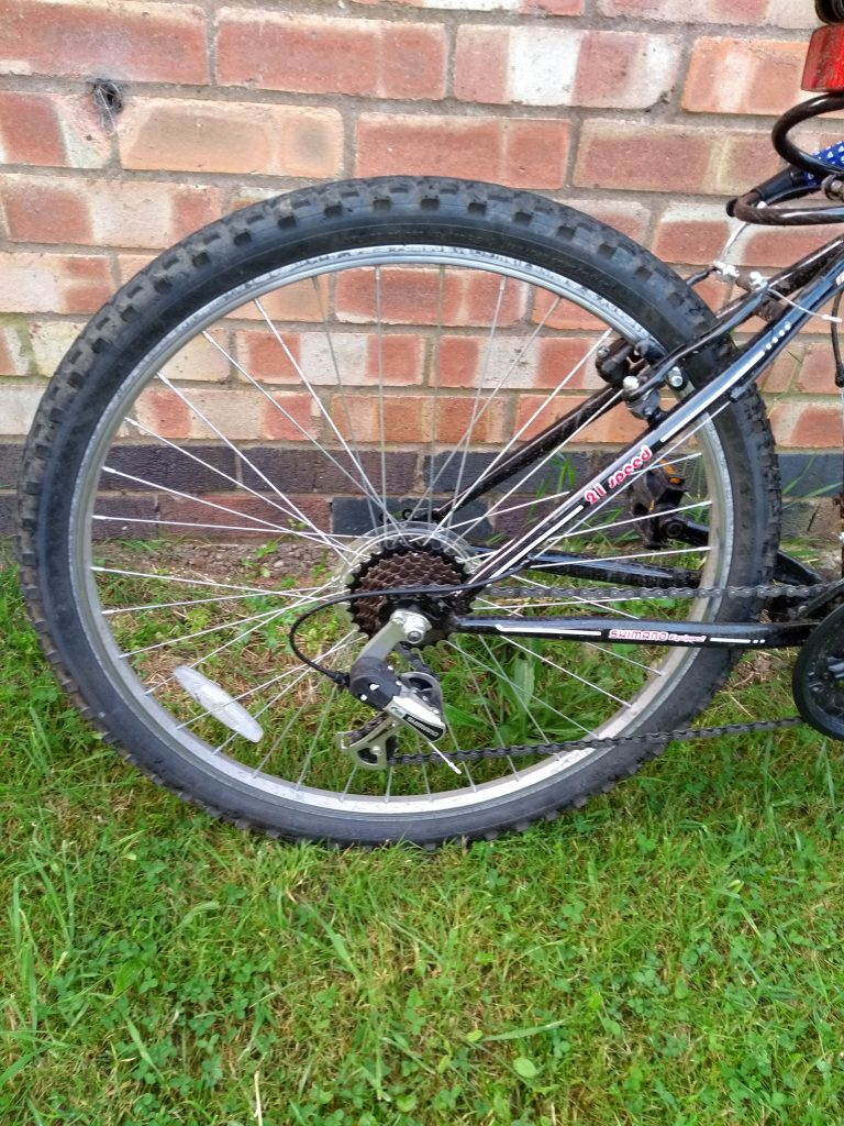 Arden Trail Mountain Bike rear wheel and brakes