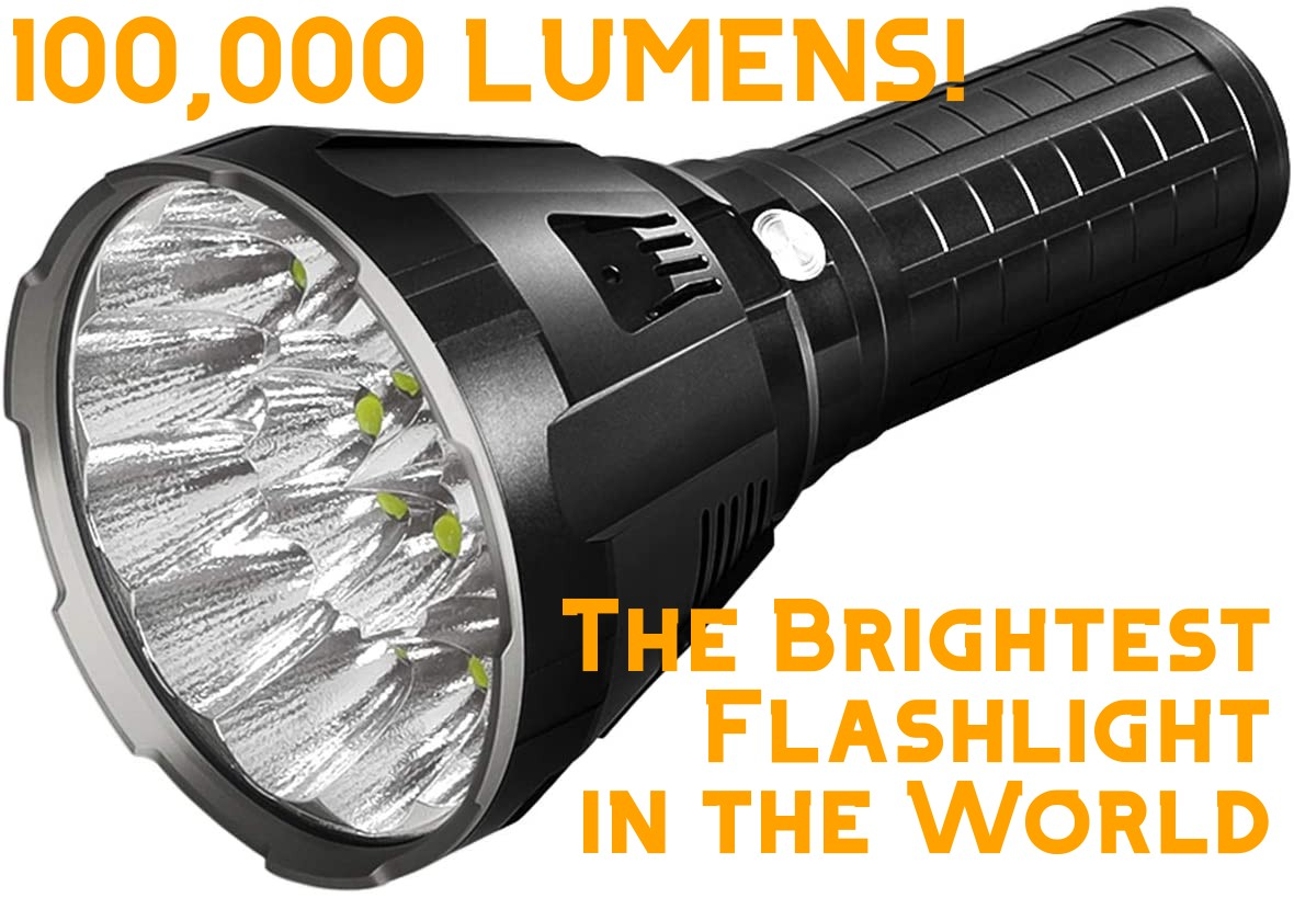 Imalent MS18 - 100,000 Lumens - The brightest flashlight in the world.